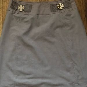 Tory Burch Leanne Gold Buckle Skirt